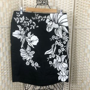 White House Black Market pencil floral skirt